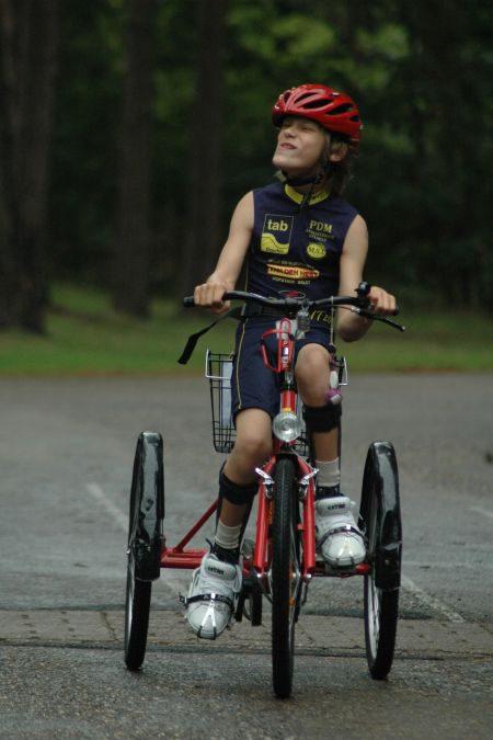 Maxime's eerste triathlon