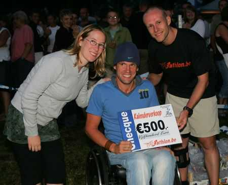3athlon.be schenkt 500€ aan To Walk Again