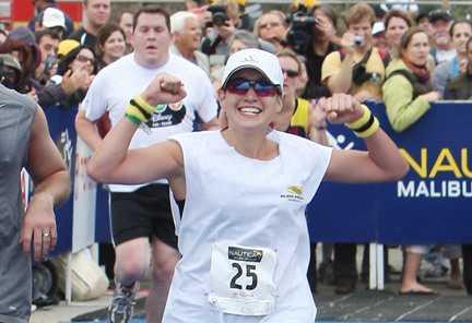 J-Lo finisht in eerste triathlon