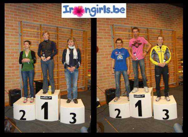Sophie Degroote en Koen Veramme winnen Irongirls Zwemloop