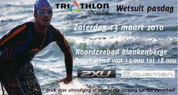 Triathlonshop.be wetsuit testdag