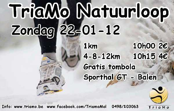 Triamo natuurloop (22/01/2012)