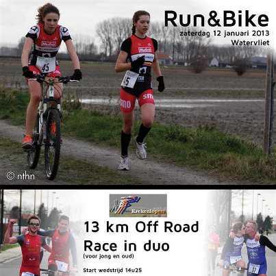 Run & Bike Watervliet zaterdag 12 jan. 2013