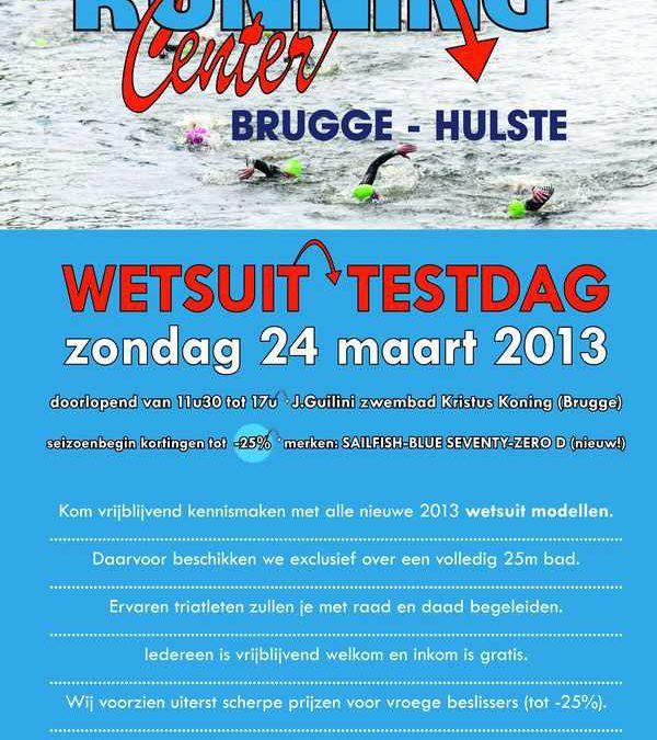 Wetsuit testdag Running Center Brugge