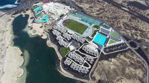 Zwemmen gebeurd in een lagune aan Club La Santa