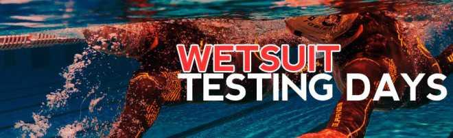 Wetsuit tesing days Triathlonshop