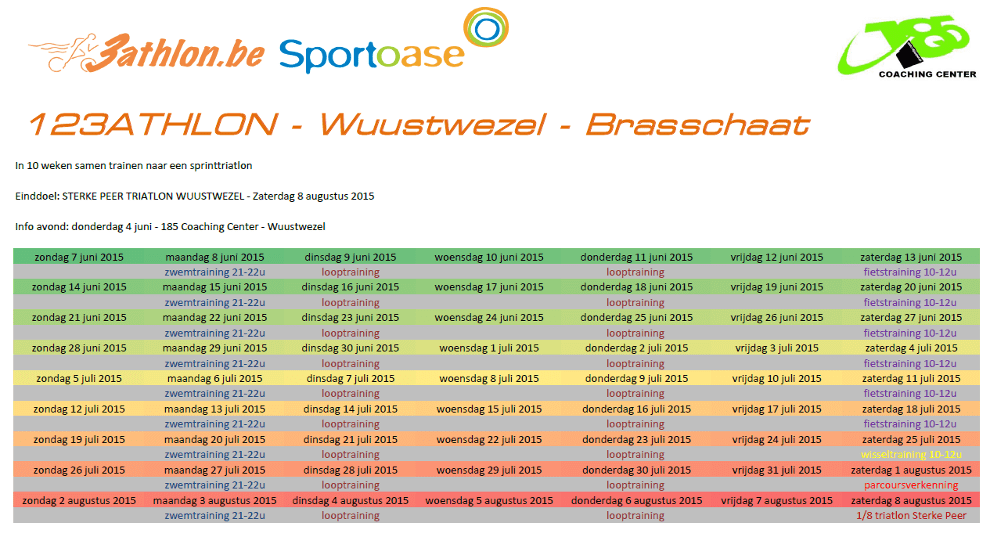 123athlon Brasschaat Programma