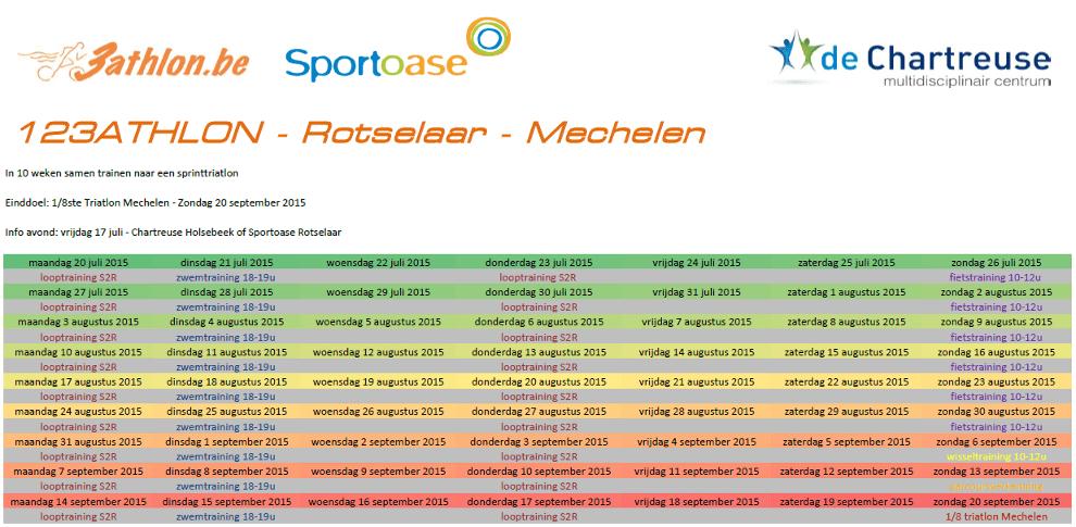 123athlon Rotselaar Programma