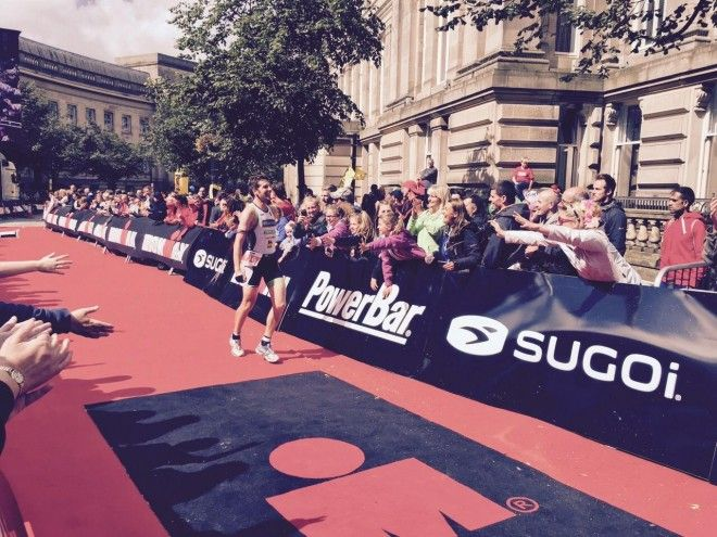 Thomas Christiaens stunt in Ironman UK