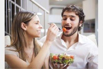 Vrouwen en triatleten 6 salade