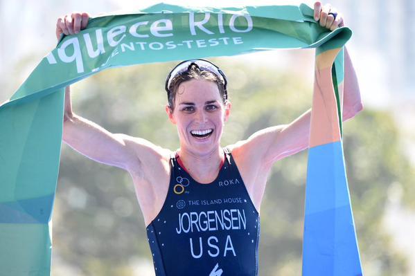 Gwen Jorgensen testevent Rio
