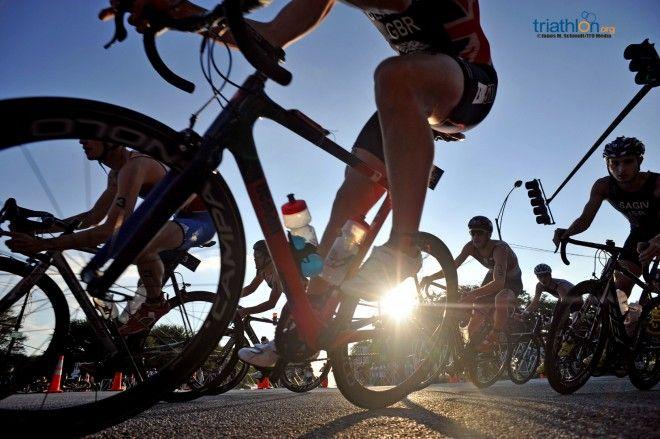 Zwaar fietsparcours in Chicago (foto: ITU/Janos M. Schmidt)