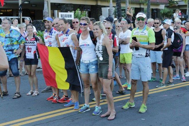 De Belgen op de Nations Parade in Kona (foto: Johan Samyn)
