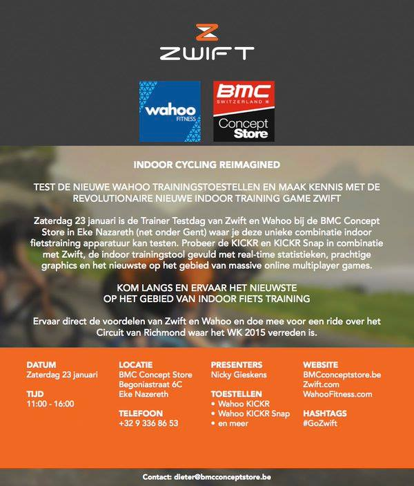 Wahoo Zwift BMC flyer