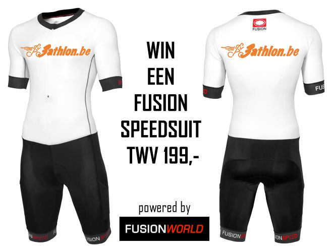Win je eigen exclusieve 3athlon.be Fusion Speed Suit