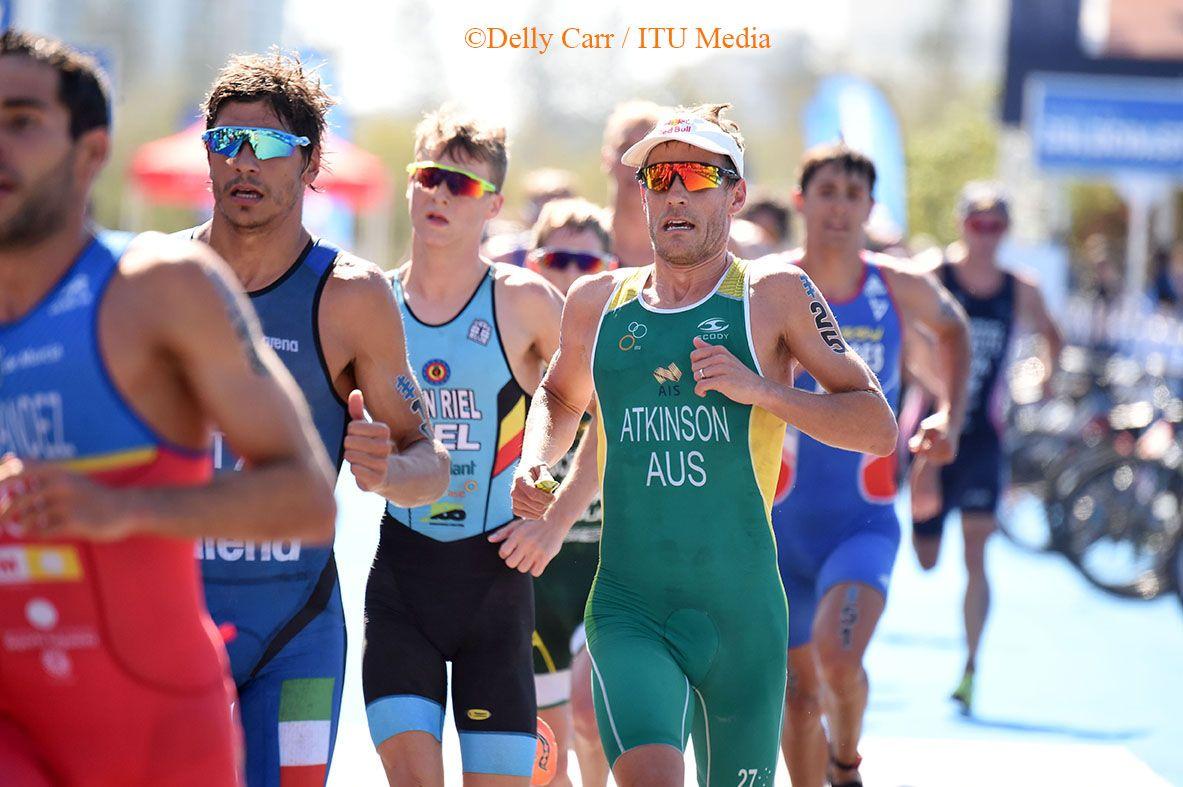 Marten Van Riel met alweer een sterk loopnummer in Gold Coast (foto:ITU/Delly Carr)