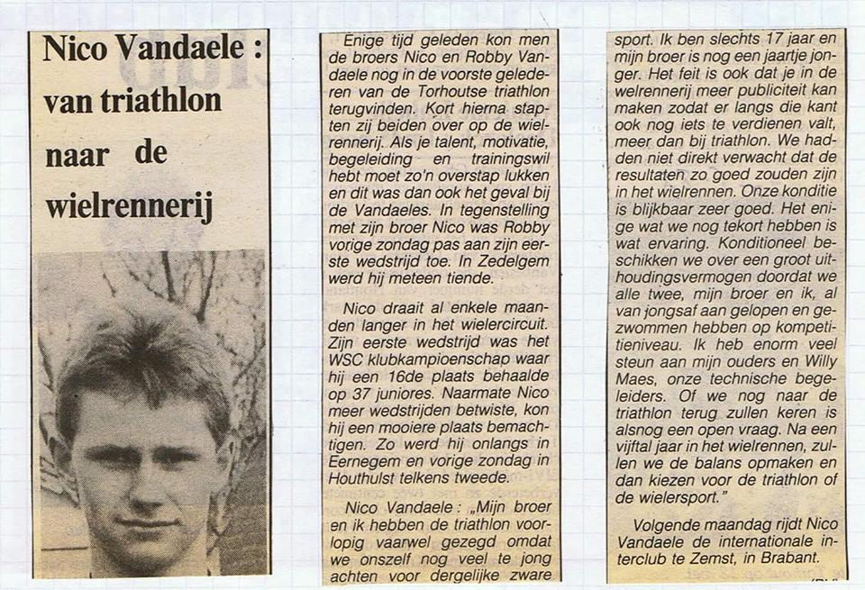 Nico Vandaele oud artikel