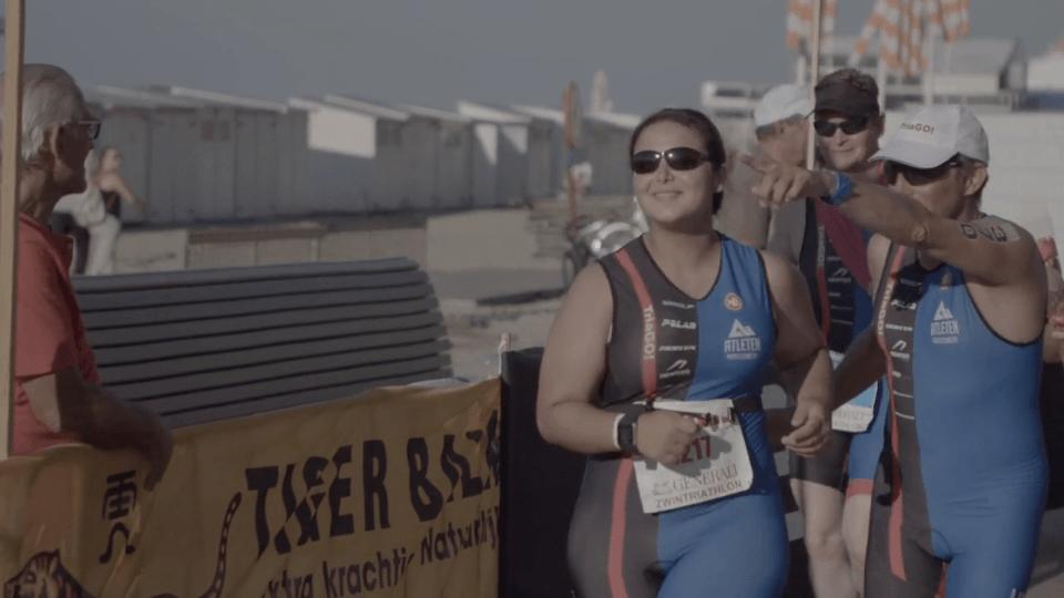 Emotionele Tria-GO finishers in Knokke