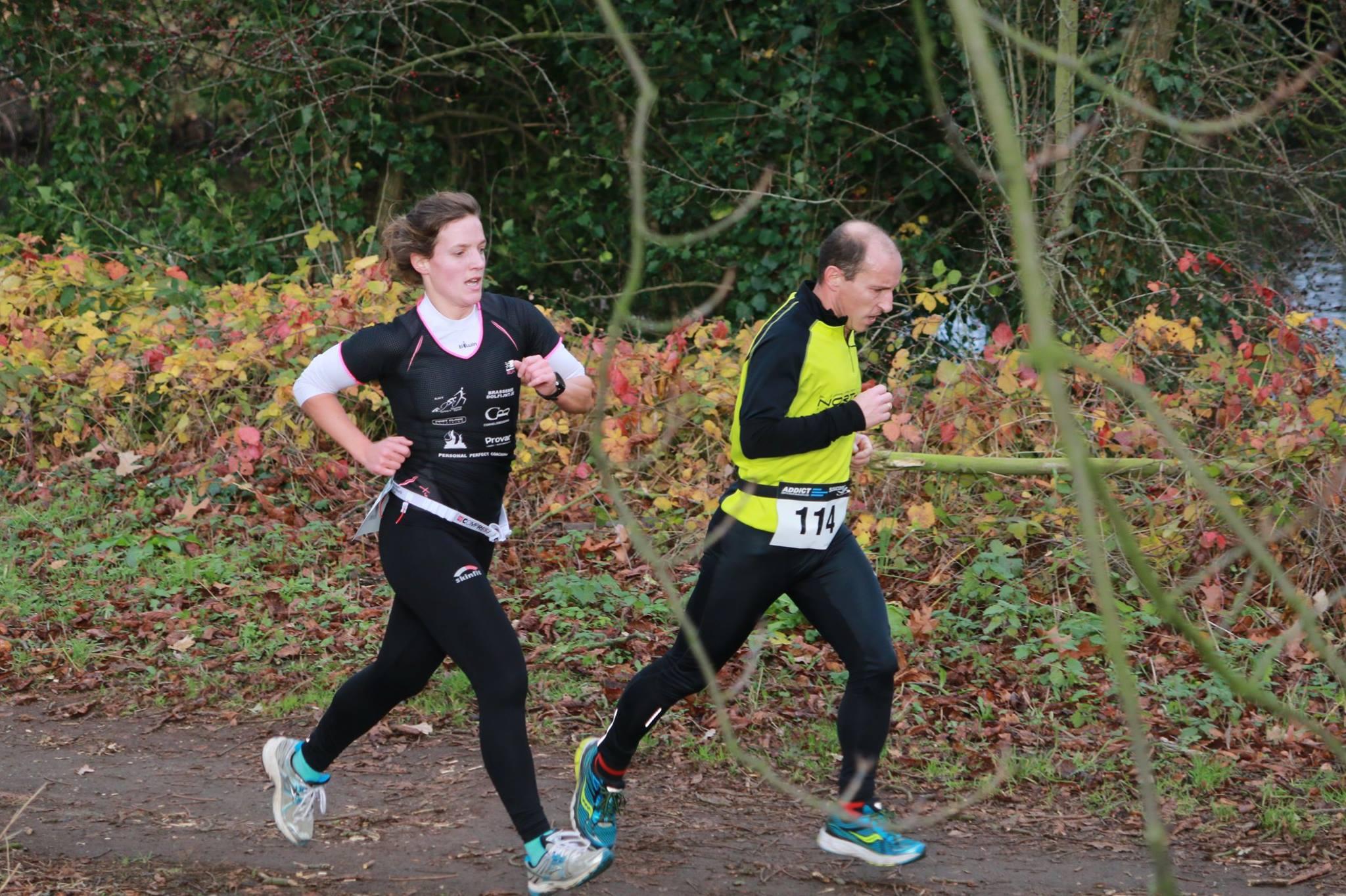 Magali Buytaert van start tot finish aan kop (foto: Chris Hofkens)