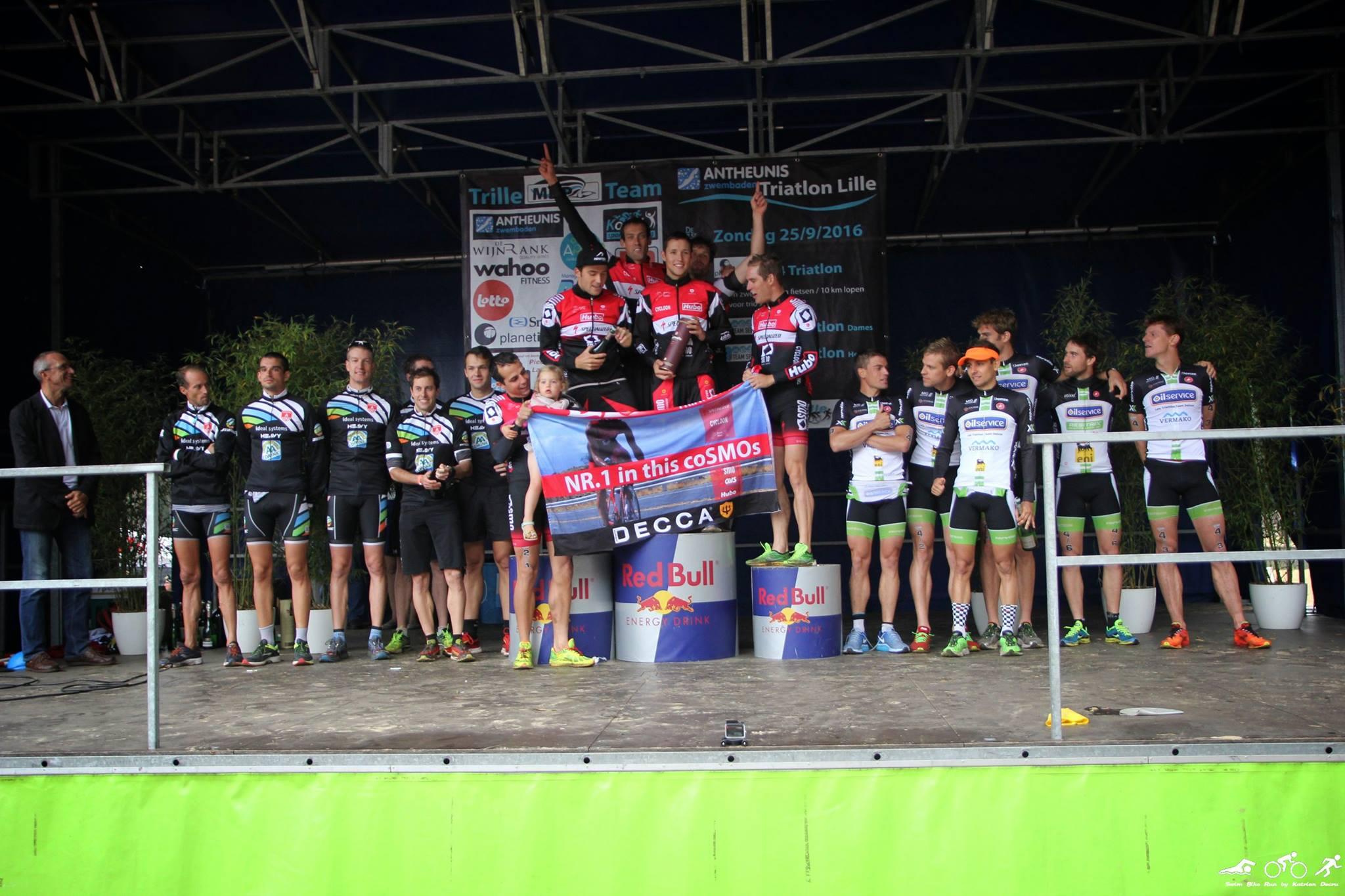 Het podium van de T3 2016 na Lille (foto: Katrien Decru)