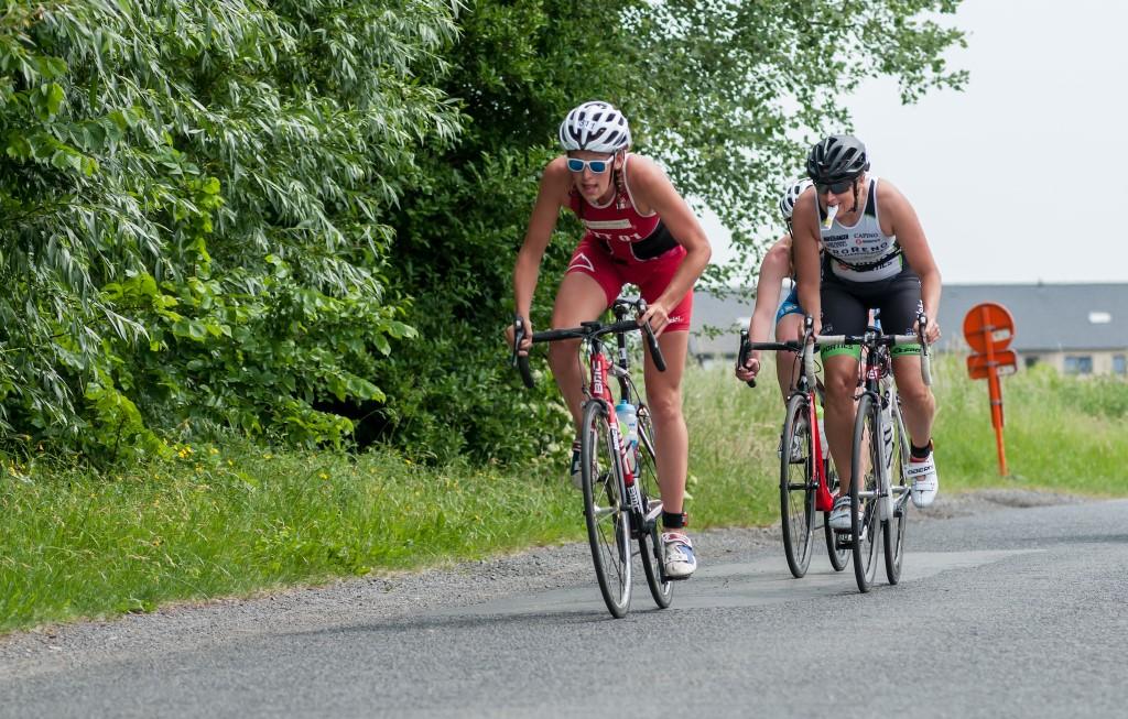 De drie koploopsters in Bredene (foto: Mario Vanacker)