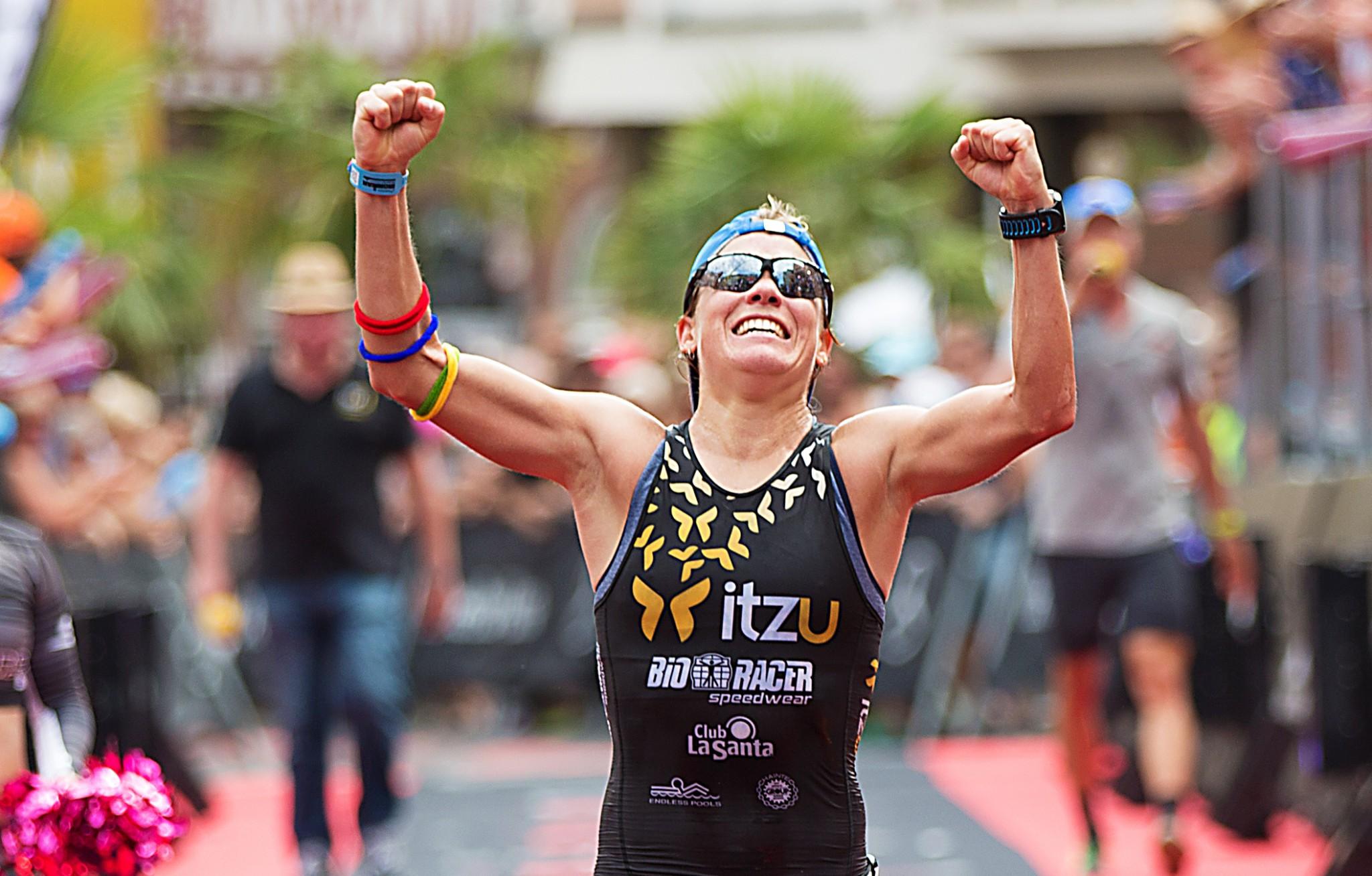 Alexandra Tondeur dolblij met bijna zekere kwalificatie voor Hawaii (foto: Ingo Kutsche)