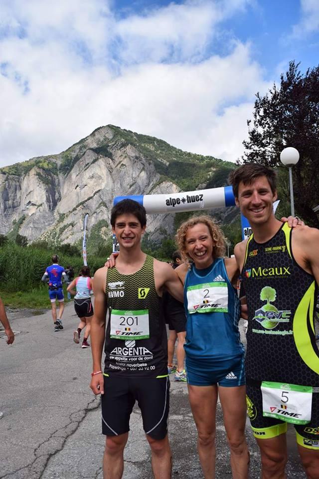 Veerle Dejaghere met Jan Petralia Alpe d Huez 2017