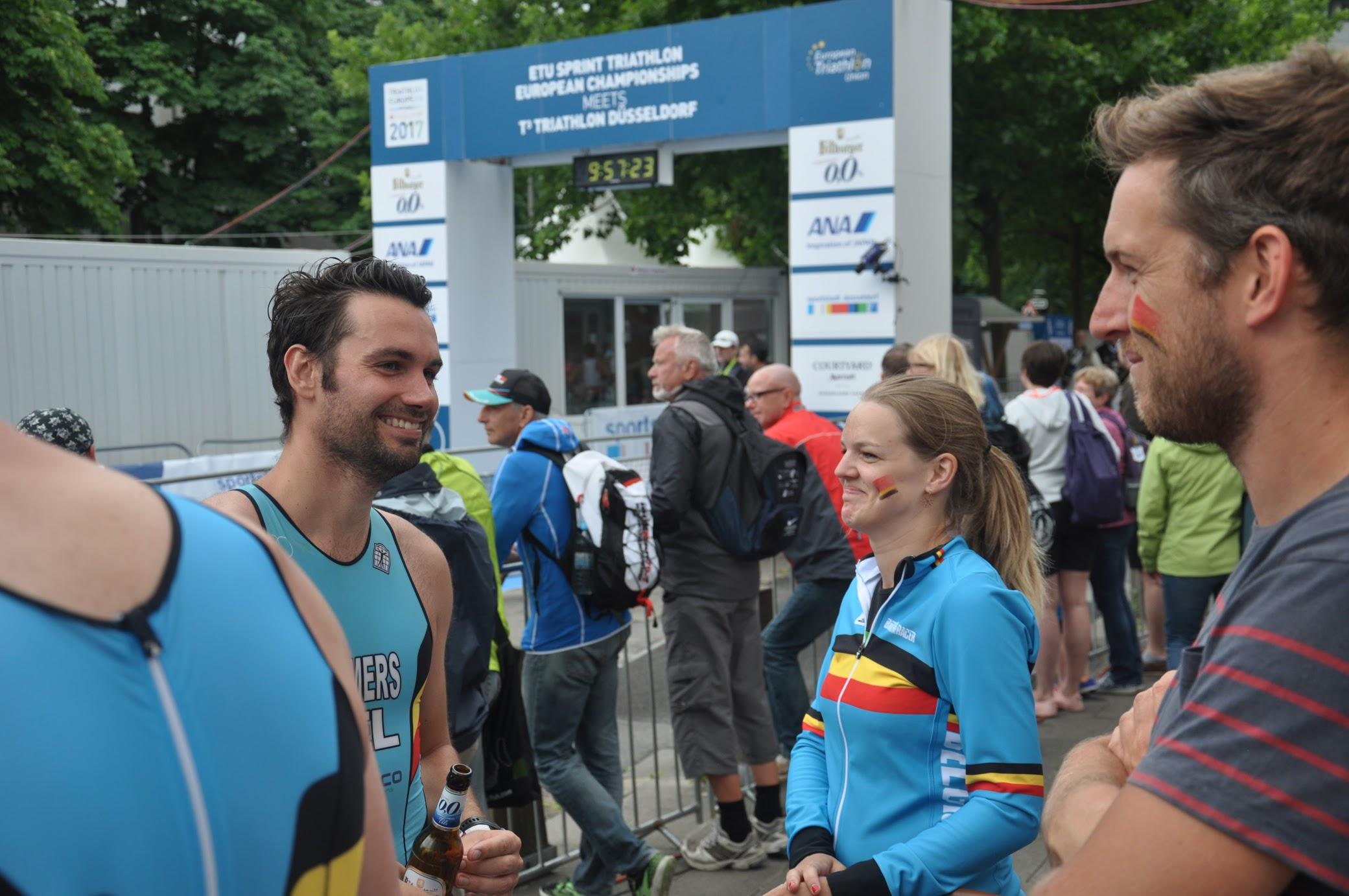 Steven Cremers en het Belgium3Team in Dusseldorf (foto: Stef Roes)