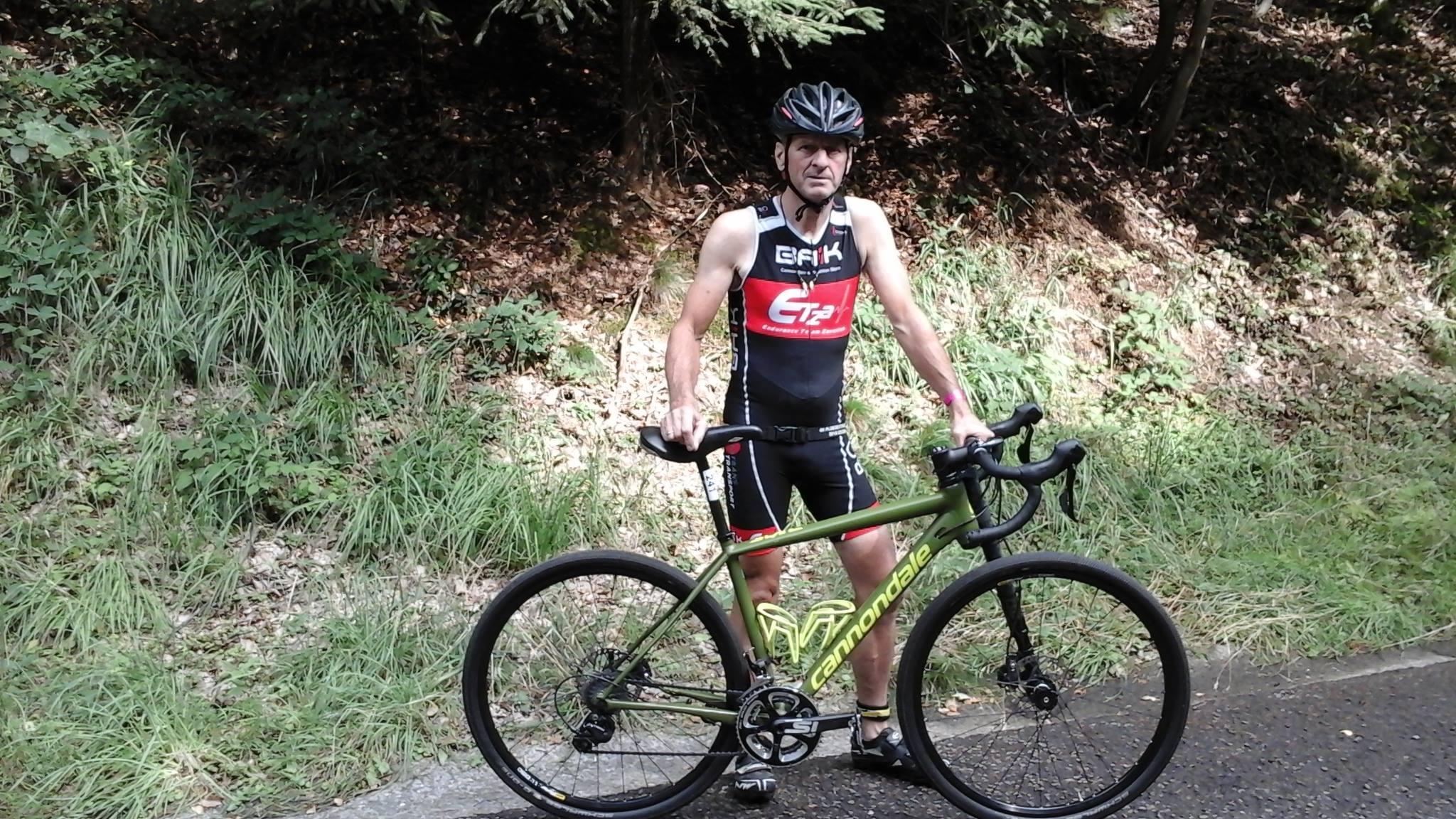 Charles Le Duc met fiets Eupen 2017