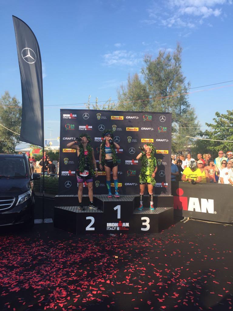Tine Deckers podium Emilia Romagna IM