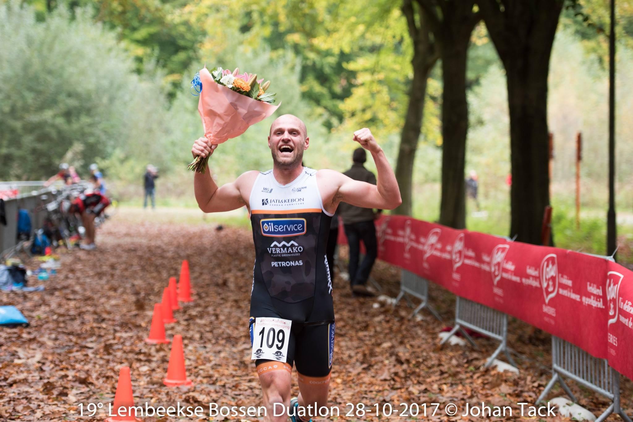 Dieter Staelens wint in Lembeke (foto: Johan Tack)