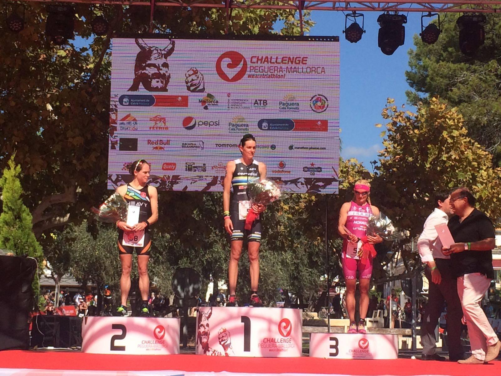 Katrien Verstuyft podium Challenge Mallorca