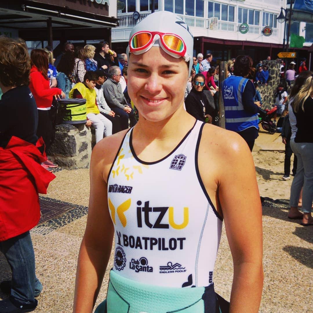 Amber Rombaut Timanfaya 2018 swim