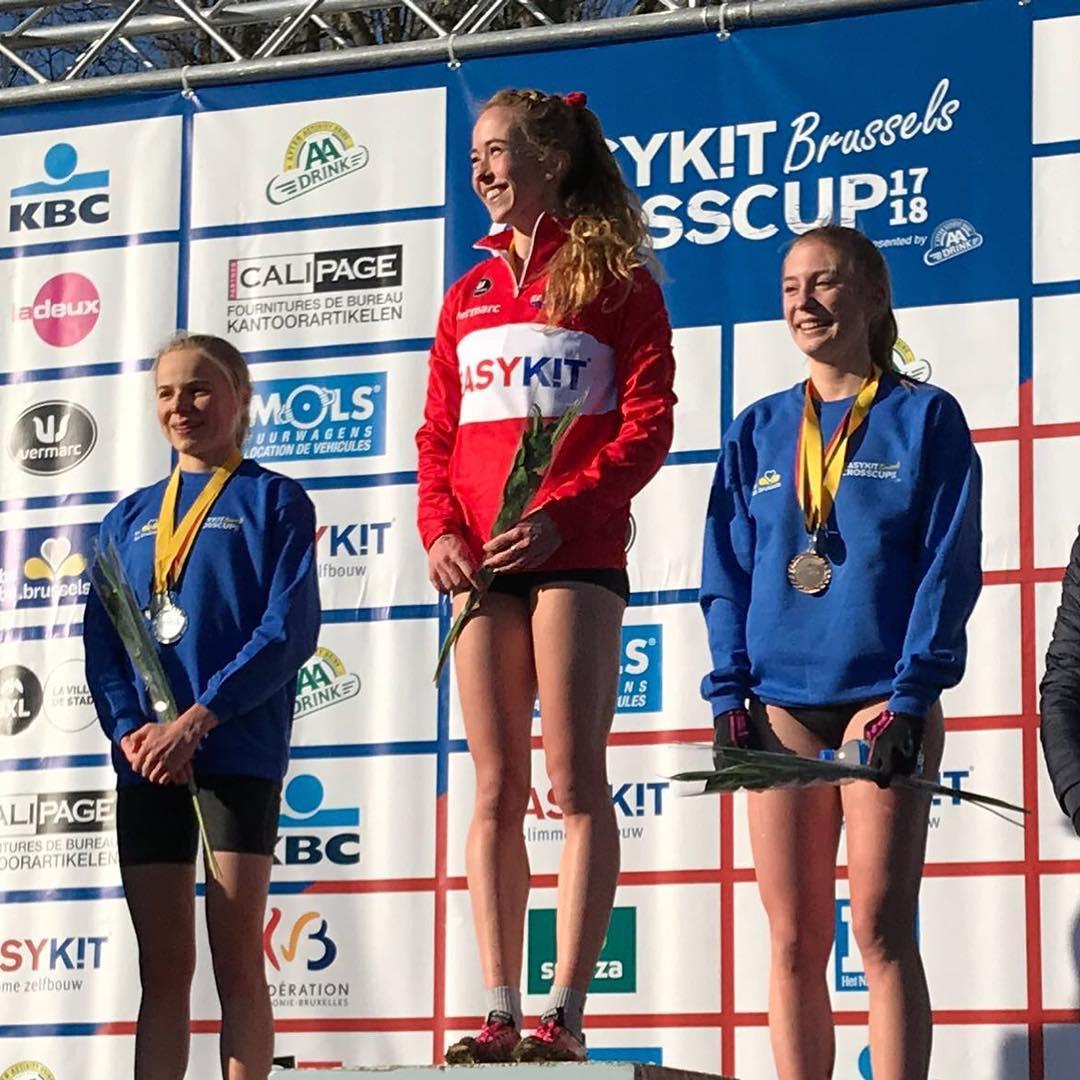 Laura Swannet zilver BK veldlopen