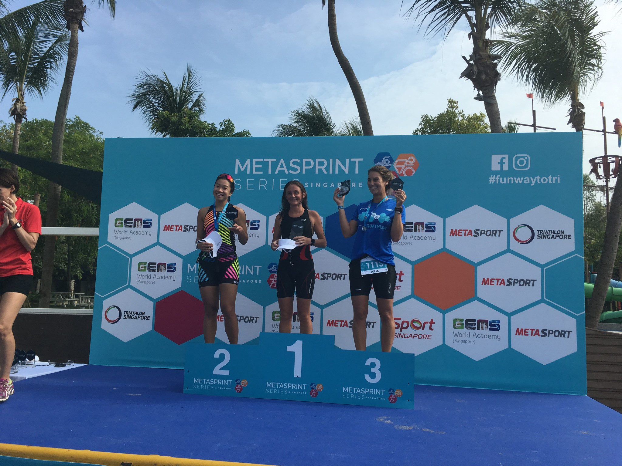 Vanja Nele Singapore podium