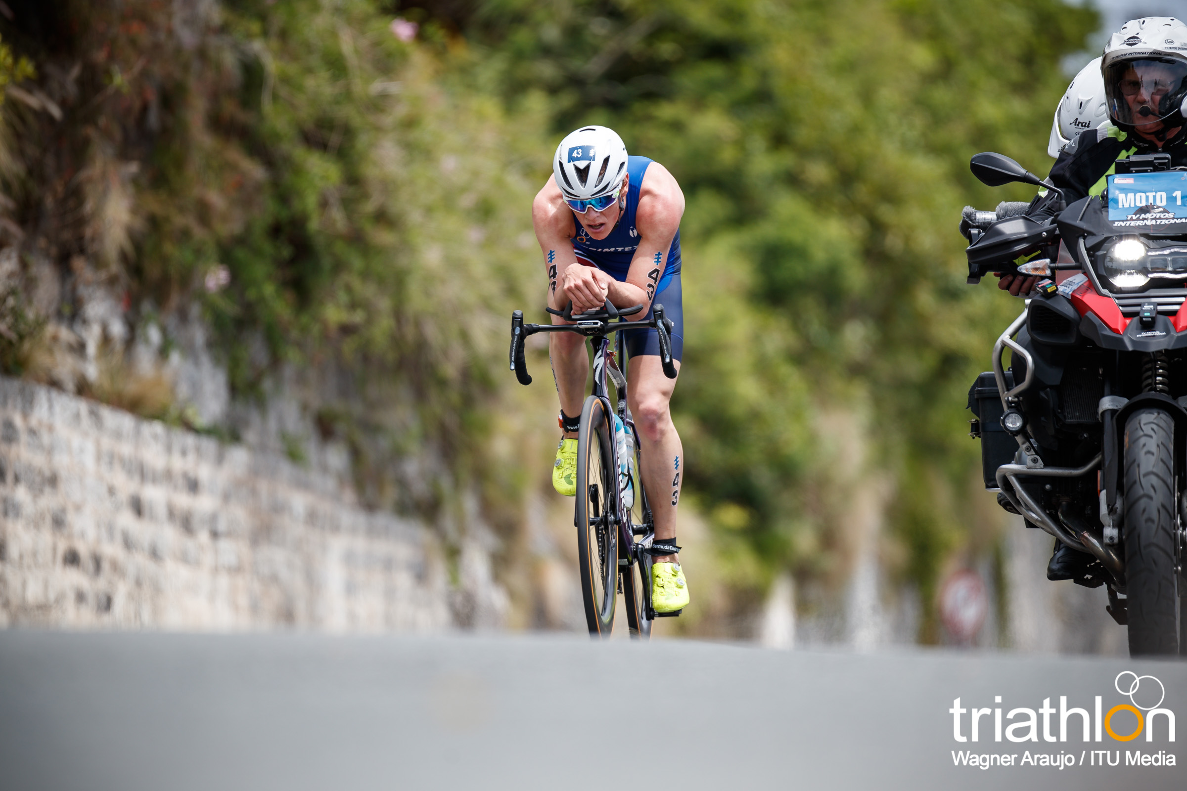 Casper Stornes in de aanval in Bermuda (foto: ITU/Wagner Araujo)