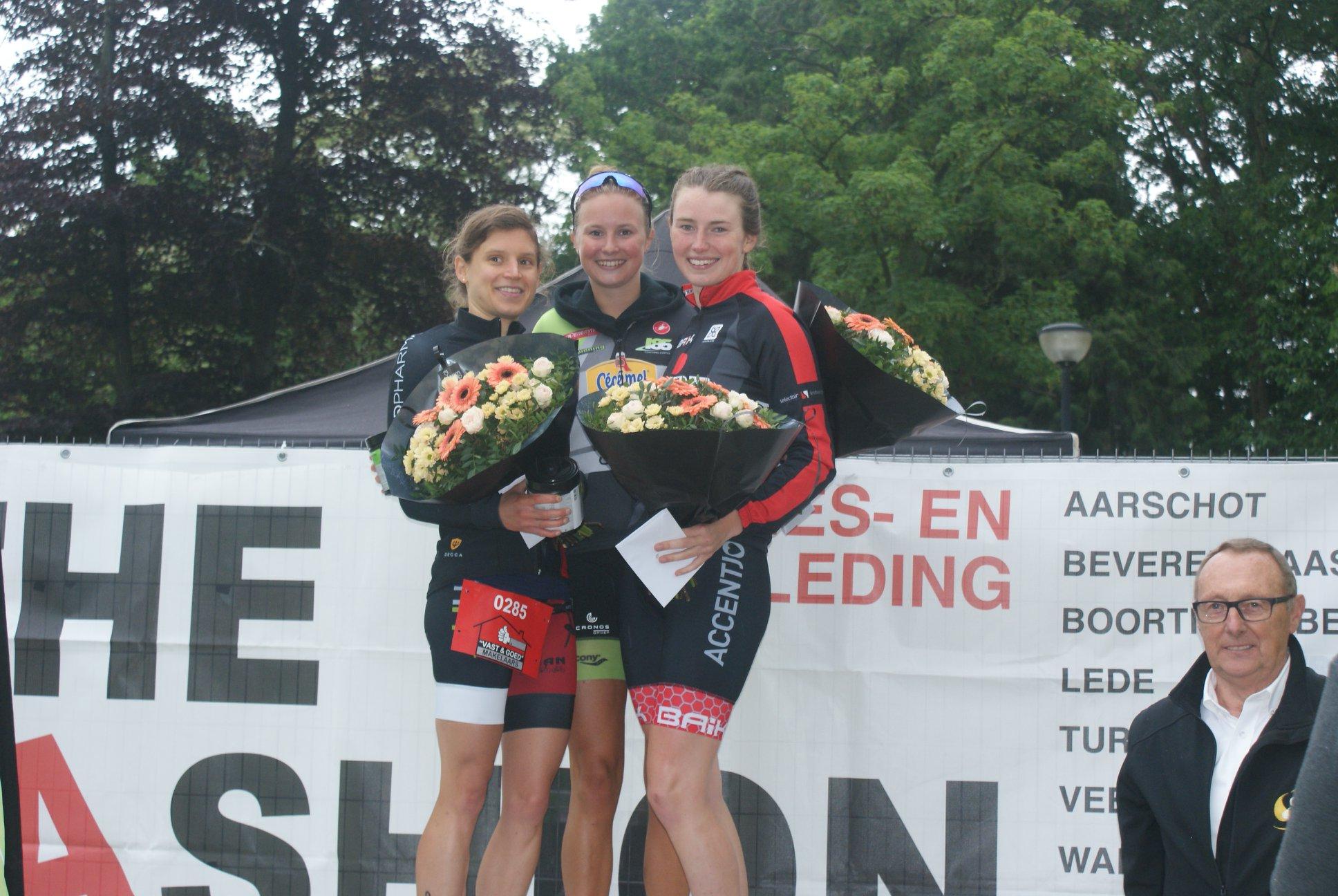 Podium Geel sprint Hanne