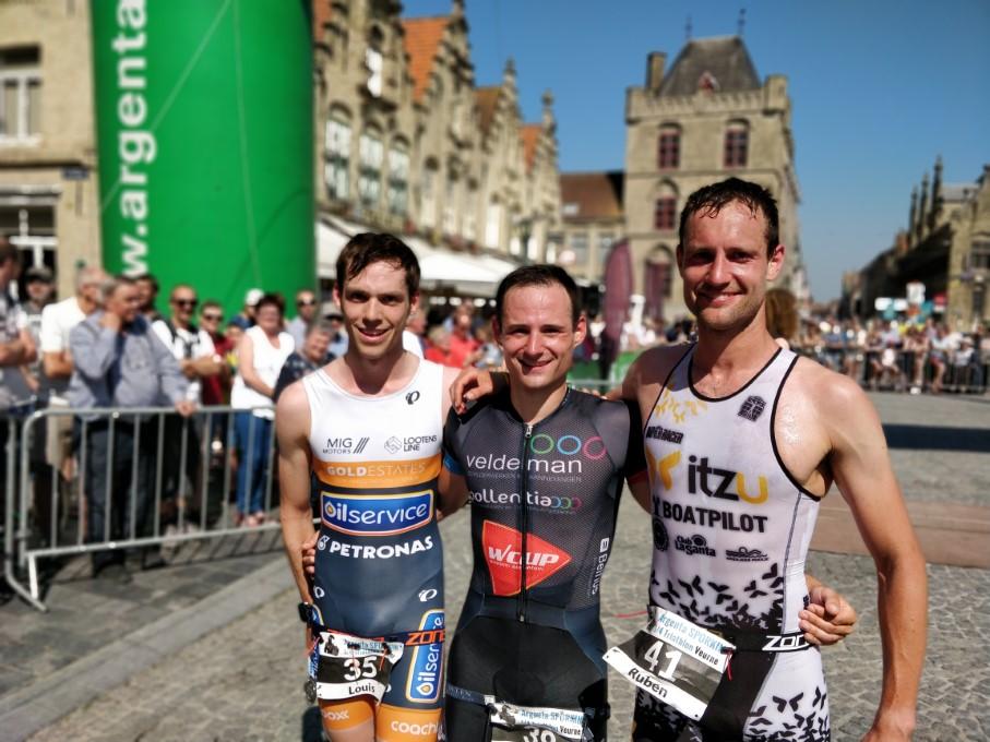 Naeyaert, Pareyn en Geys, de top-3 van Veurne (foto: 3athlon.be/Hans Cleemput)