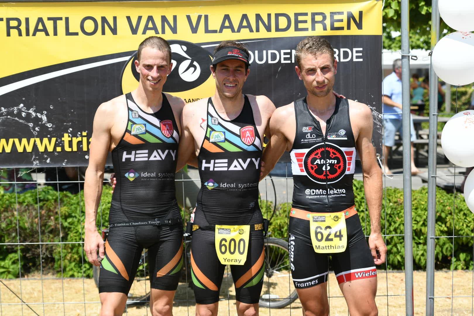 Wouter, yeray en Matthias op het BK (foto: 3athlon.be/Mario Vanacker)