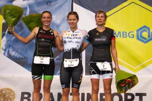Amber Rombaut, Eva Cornelisse en Mieke Suys (3athlon.be/Kilian Hendrickx)