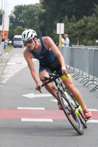 Jano Vanparrys nam de kop tijdens het fietsen (3athlon.be/Kilian Hendrickx)