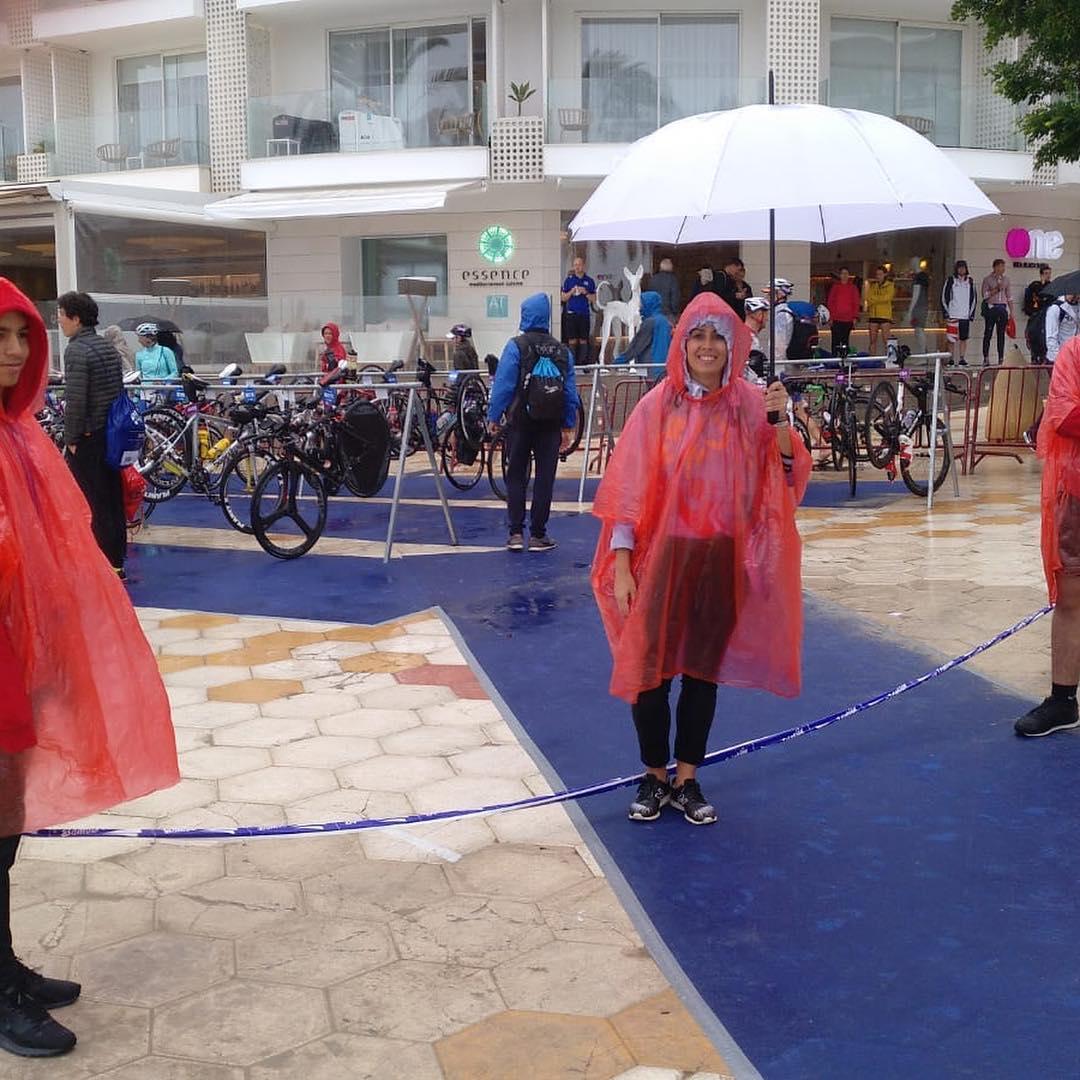 Overvloedige regen op het EK in Ibiza (foto: Multisport Festival Ibiza)