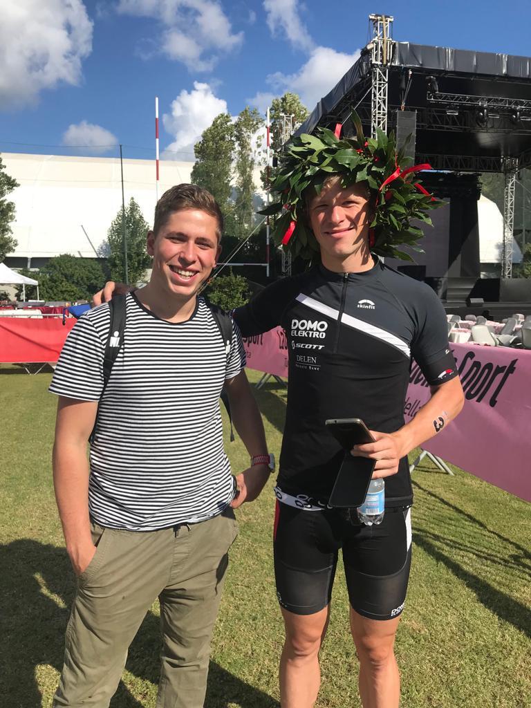 Een blije Pieter Heemeryck (foto; Domo-Scott team)