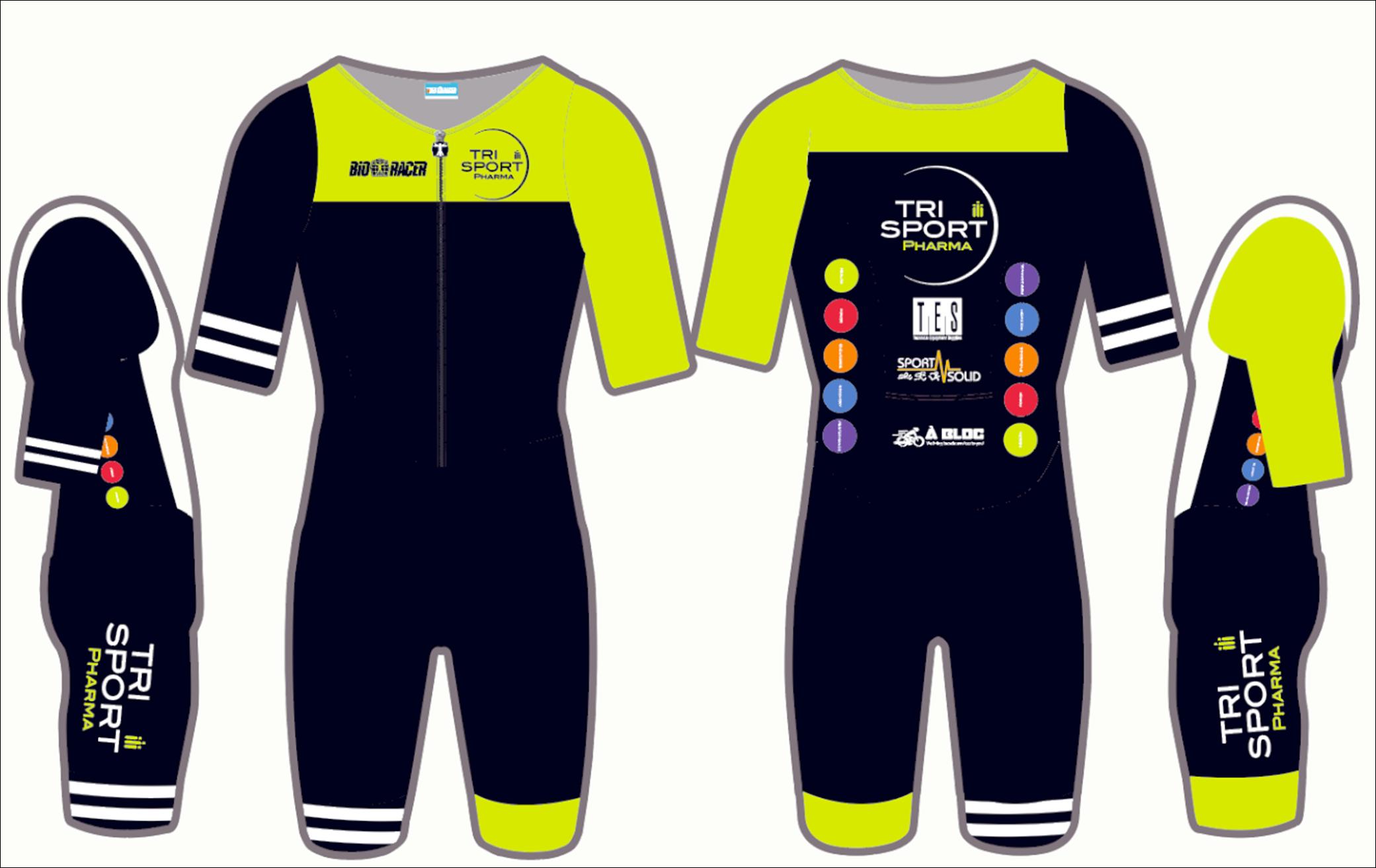 De nieuwe tenue van het Trisport Pharma team voor 2019