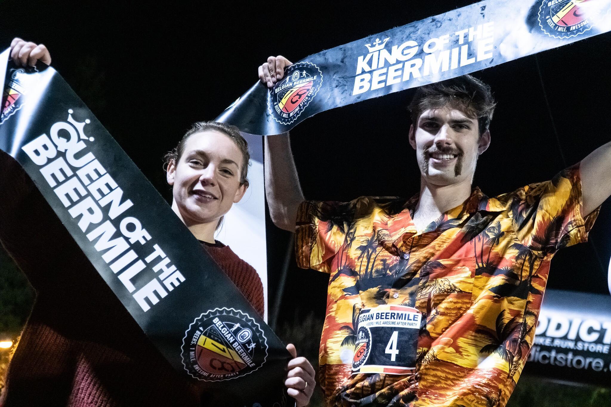 Kampioenen Jasmien Hillen en Antonio Hernaert (foto: 3athlon.be/Gert-Jan D'haene)
