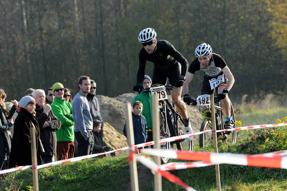 Kevin Strubbe en Gert Van Poucke in Wachtebeke (foto: Chris Anthuenis)