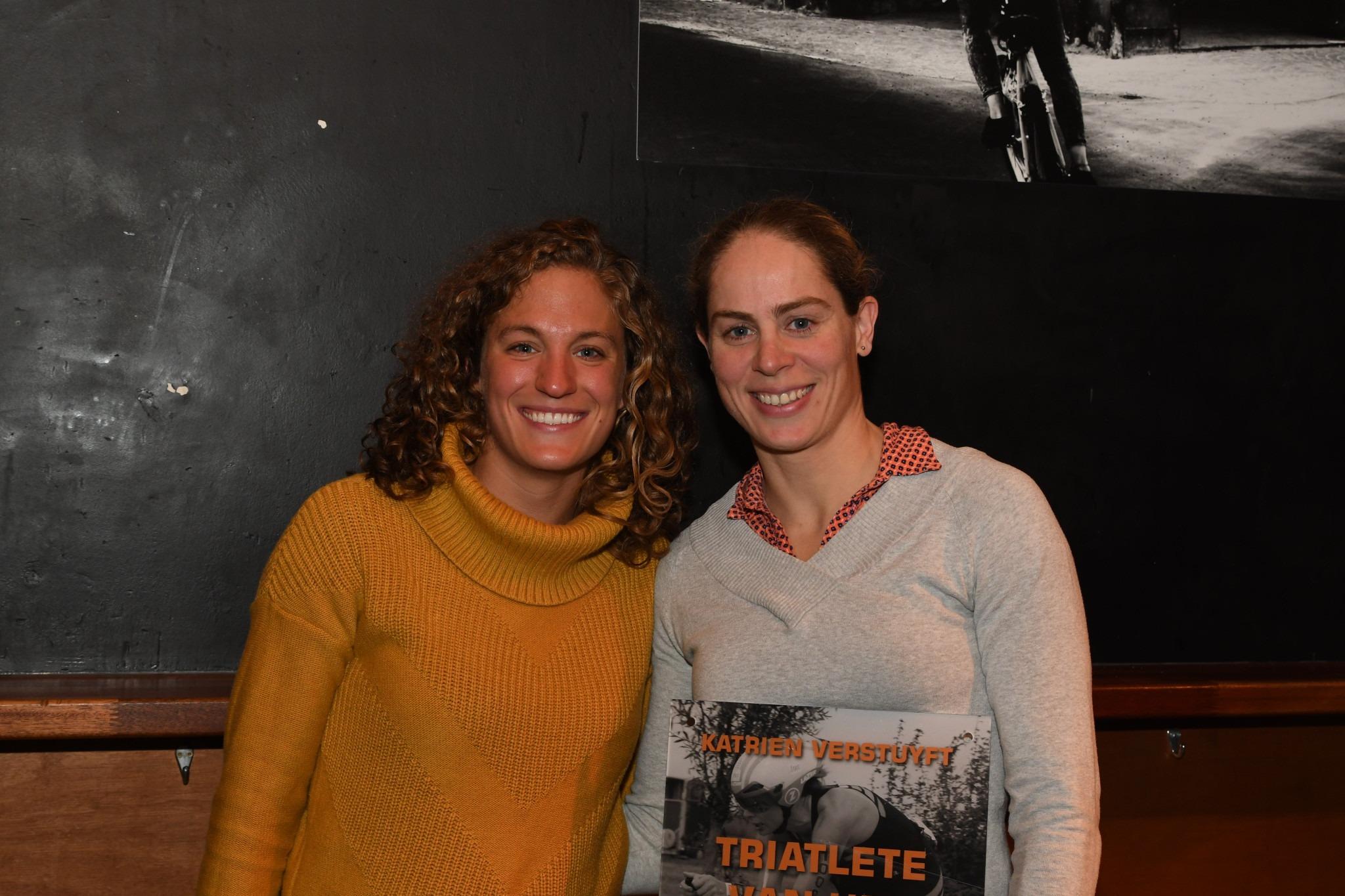 Valerie Barthelemy en Katrien Verstuyft (foto: 3athlon.be/Mario Vanacker)