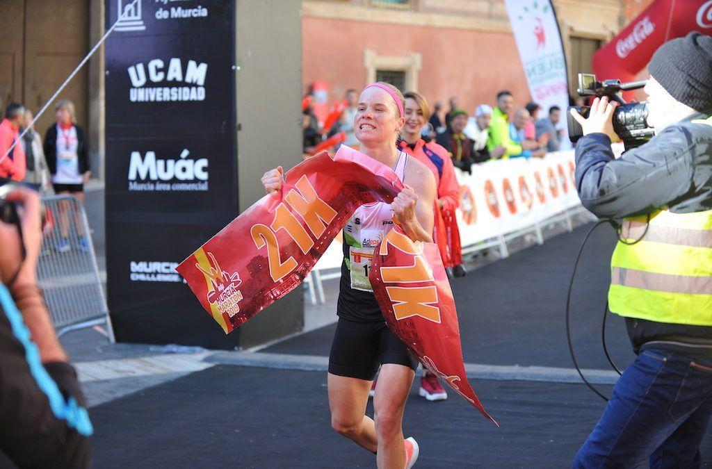 Alexandra Tondeur wint halve marathon Murcia