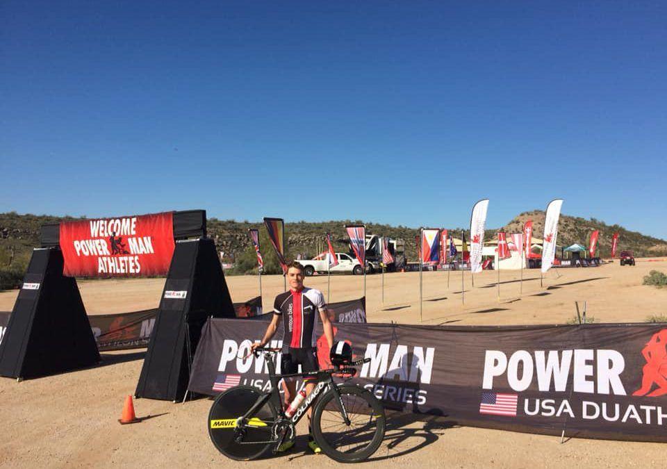 Gael Le Bellec wint eerste Powerman van 2019 in de woestijn