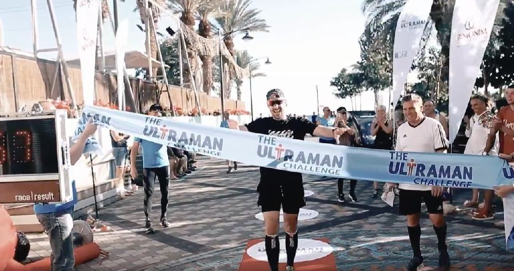 The Ultraman Challenge Israel in beeld met held Nico De Neef – video